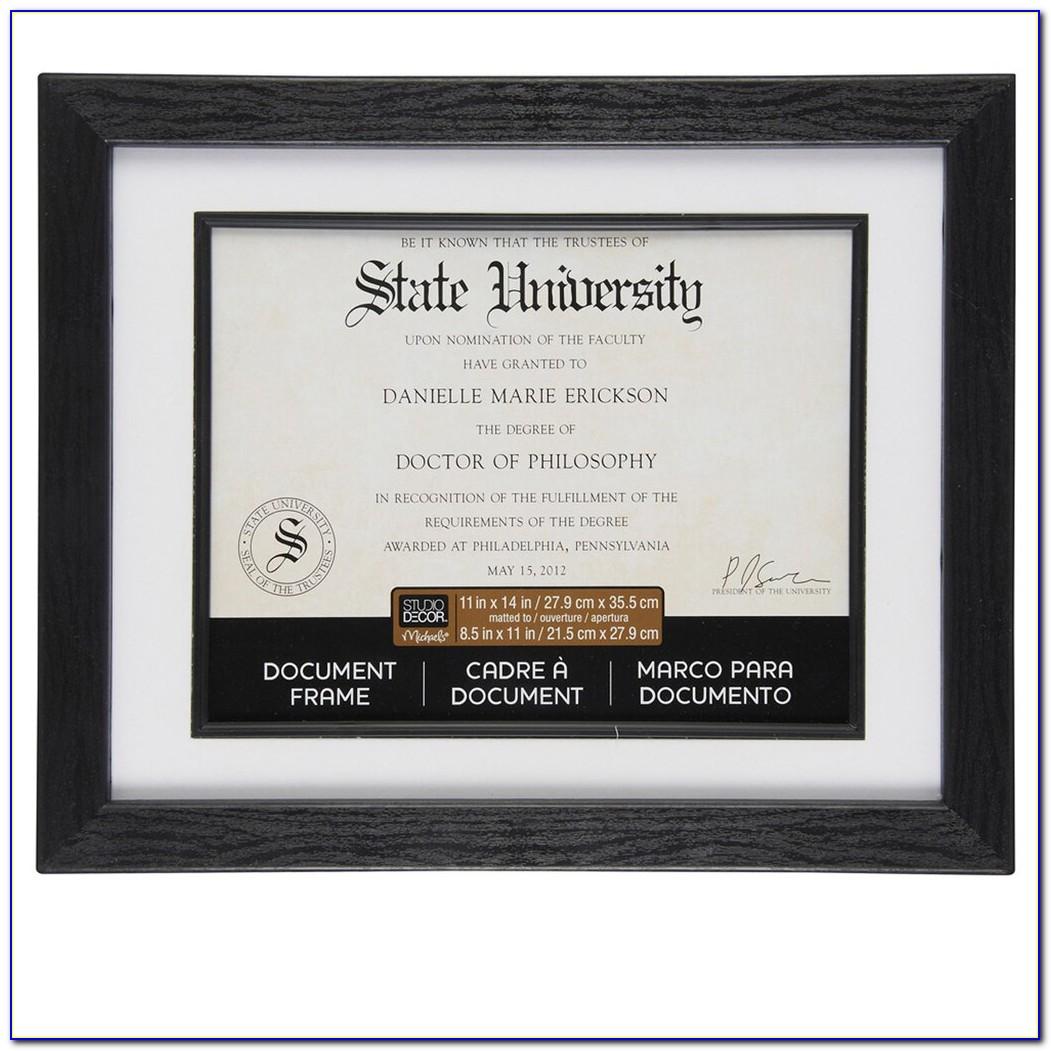 Certificate Frames Michaels