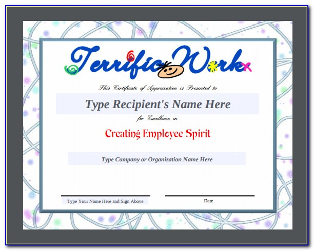 Certificate Of Award Template Free Download