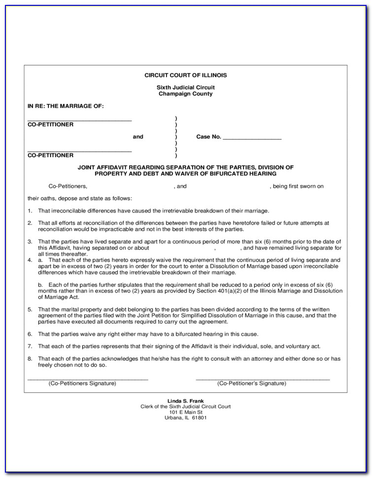 Certificate Of Dissolution Of Marriage Illinois Form
