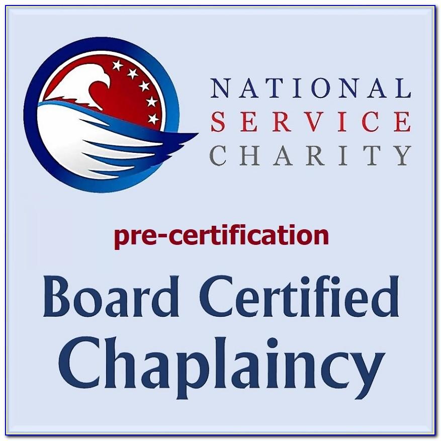 Chaplain Board Certification Online