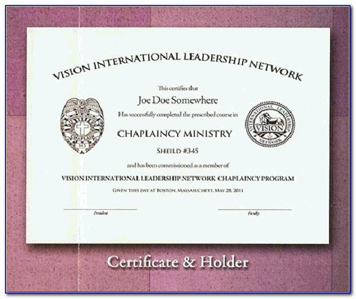 Chaplain Certification Programs Online