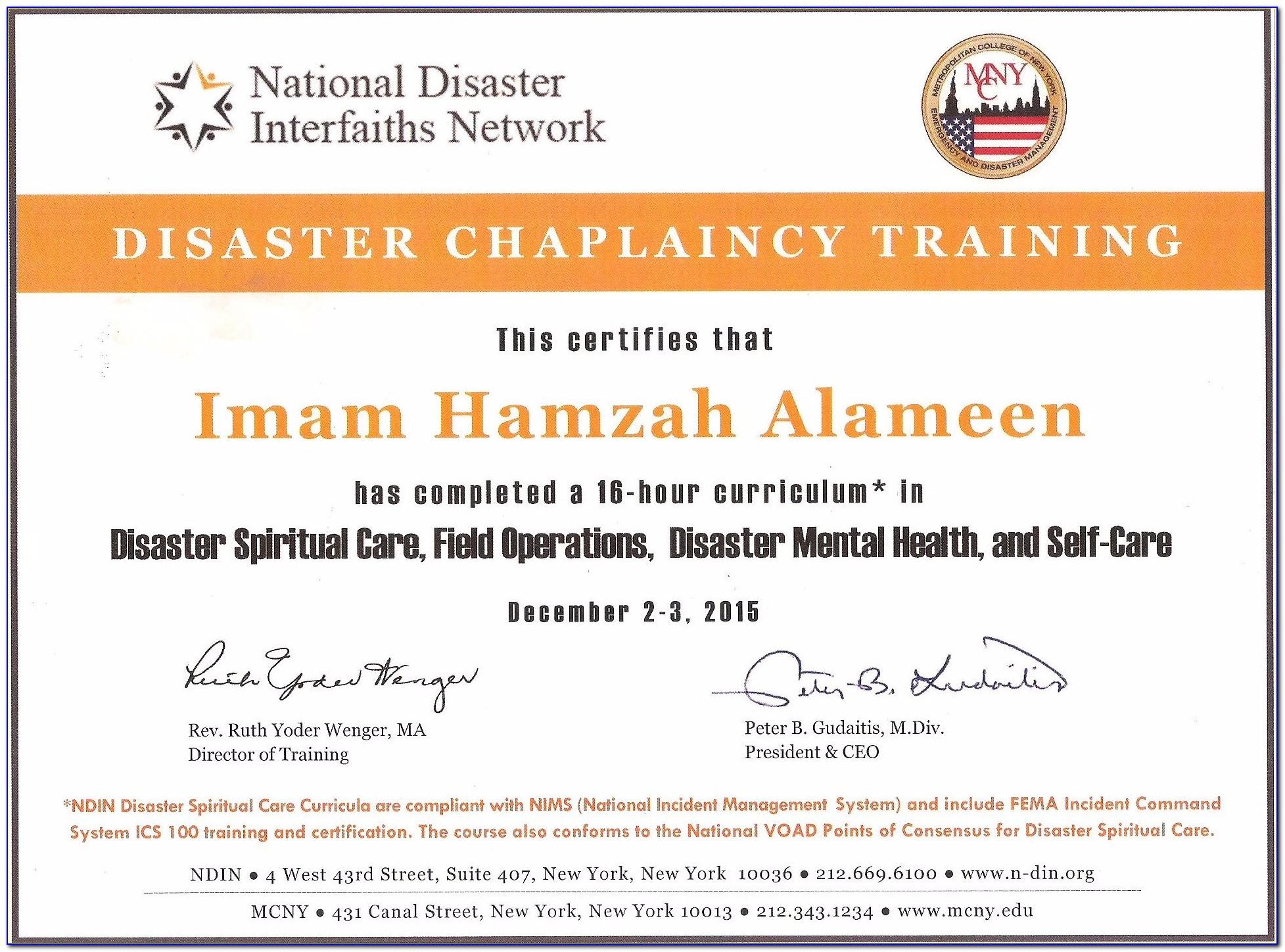 Chaplaincy Certification Online