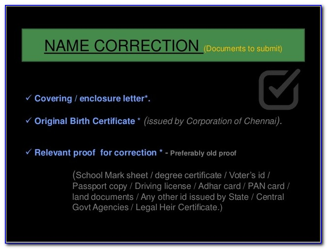 Chennai Corporation Birth Certificate Download