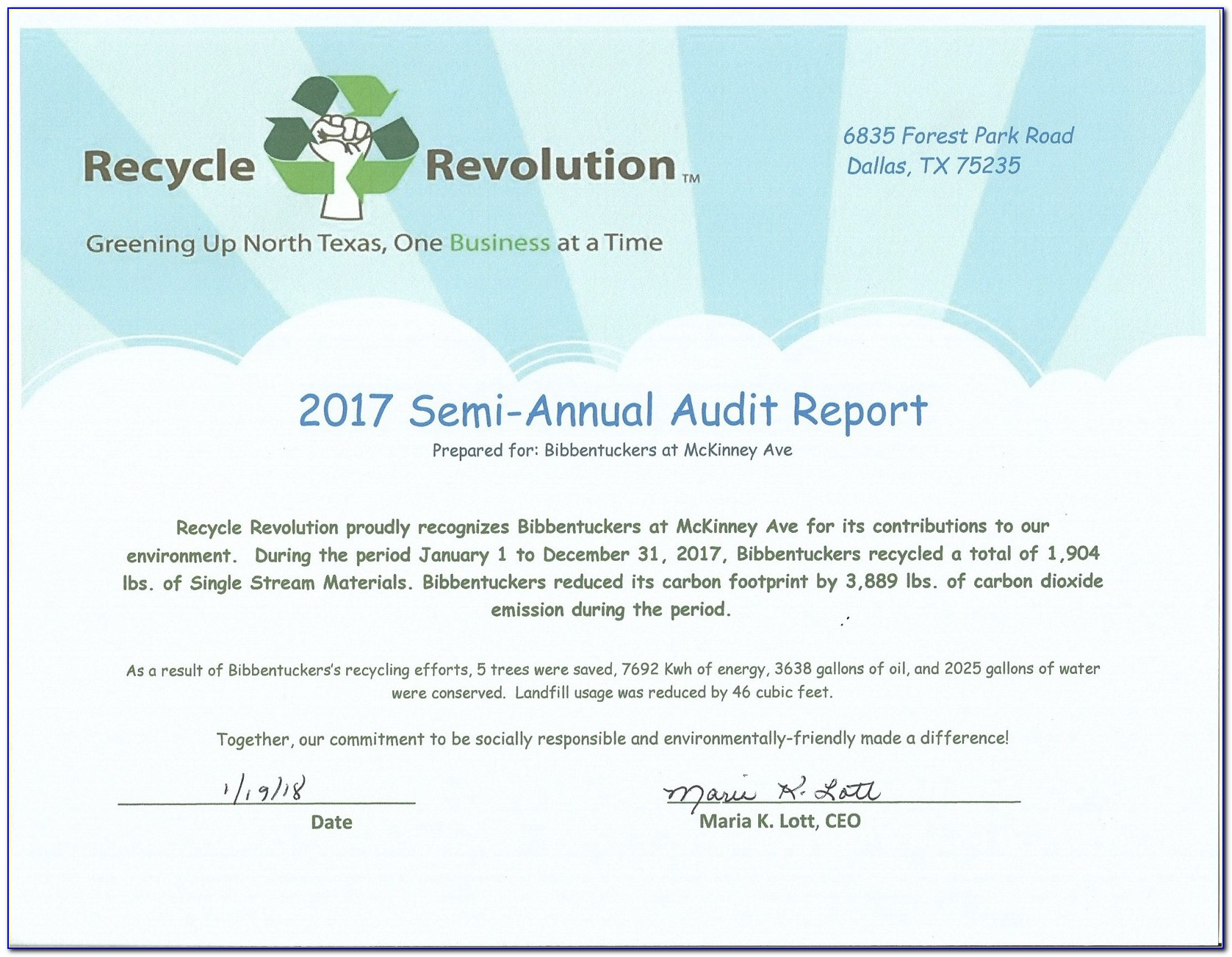 City Of Dallas Certificate Of Occupancy Report