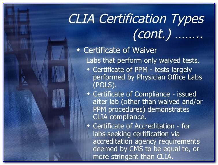 Clia Certificate Of Waiver Covid 19