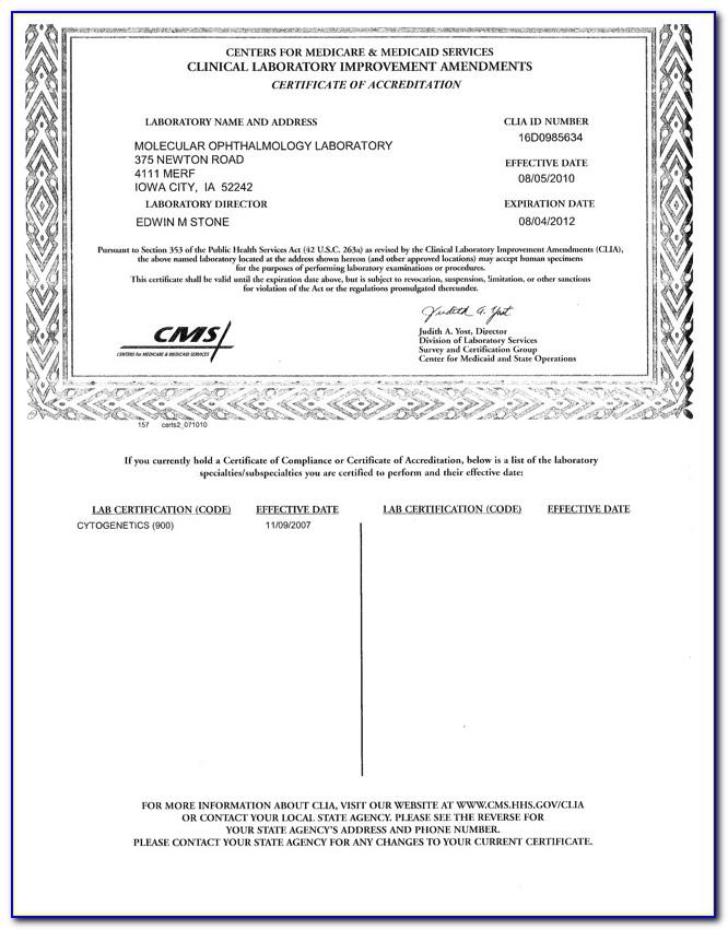 Clia Certificate Of Waiver Fee
