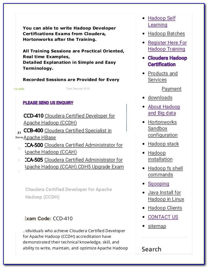 Cloudera Hadoop Certification Cost In India