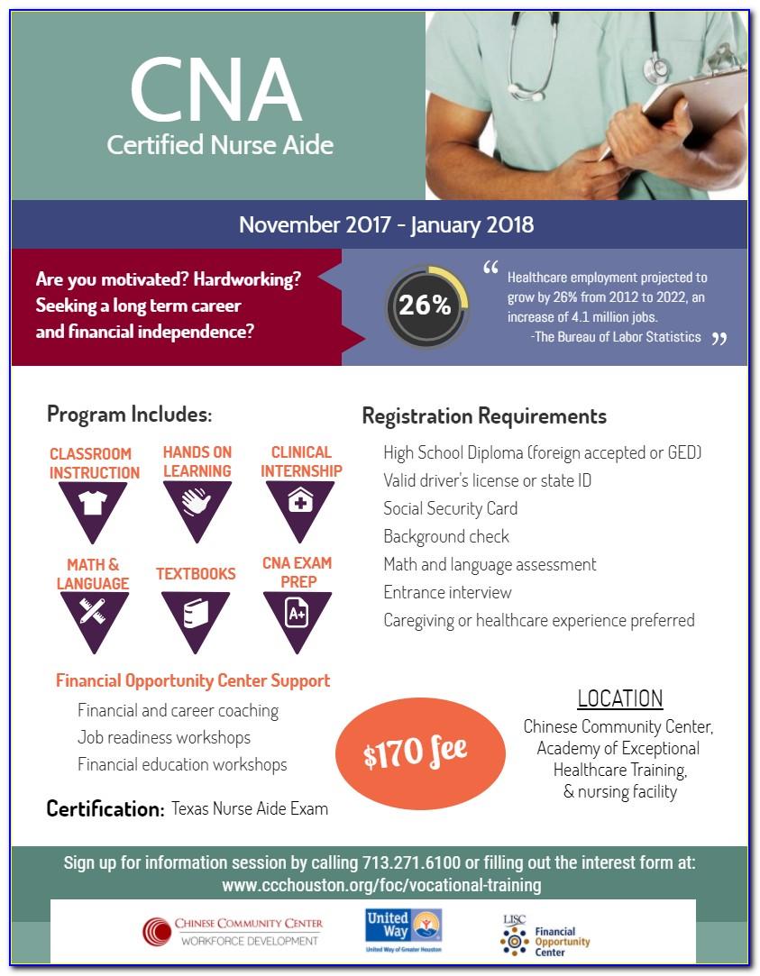 Cna Certification Classes Houston Tx