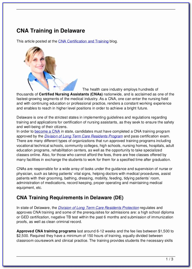 Cna Certification Colorado Springs
