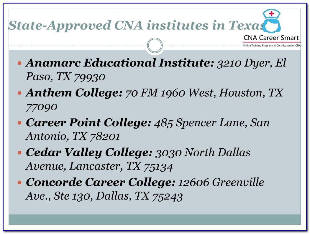 Cna Certification Houston Texas