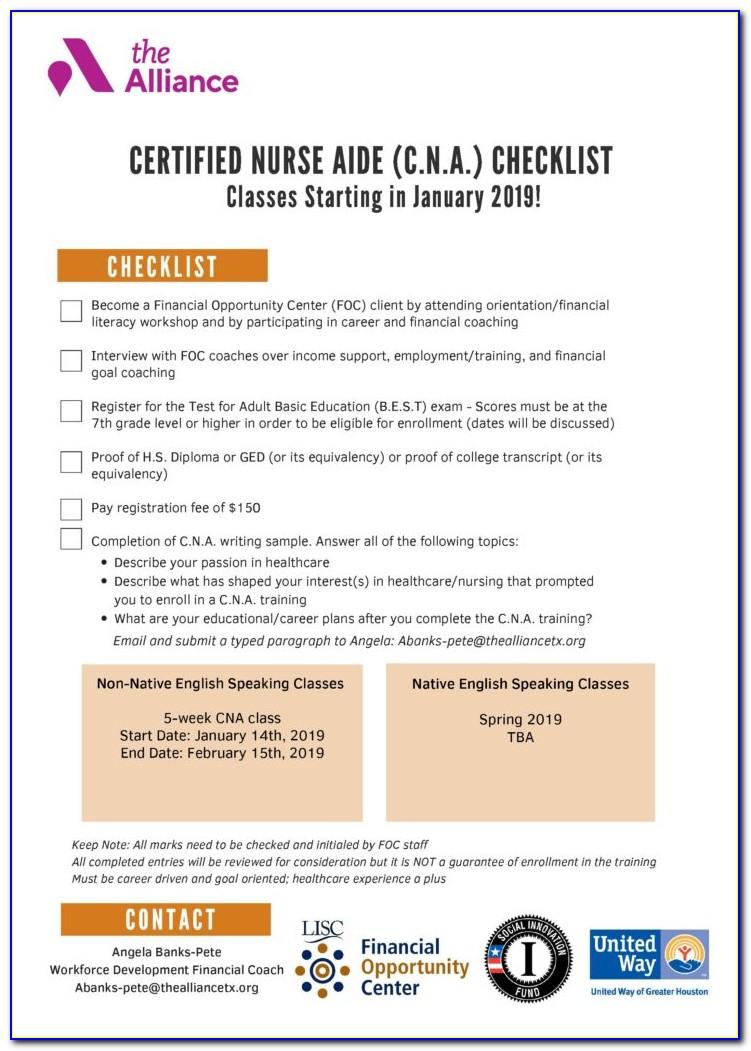Cna Certification Houston Tx