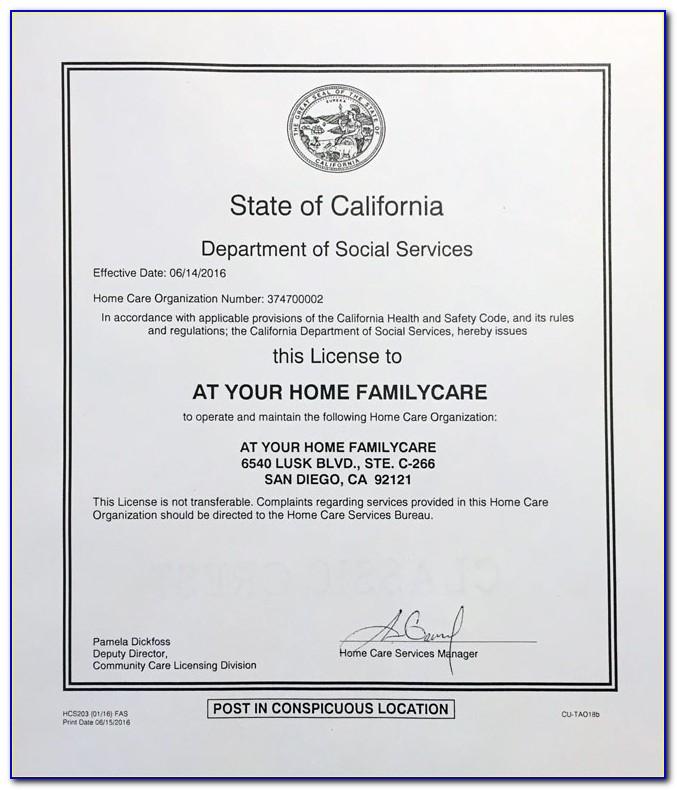 Cna Certification Lookup California