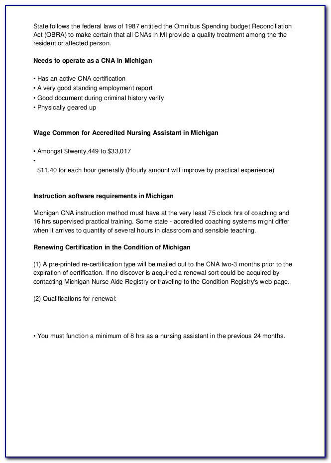 Cna Certification Minnesota