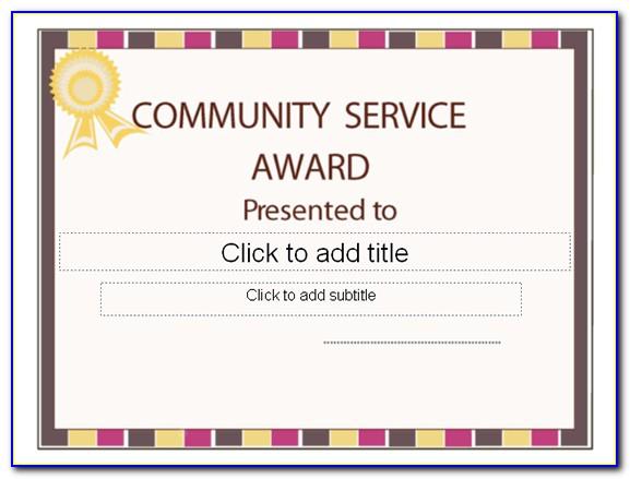 Community Service Certificate Concordia