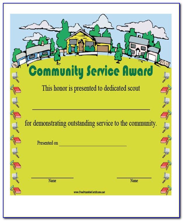 Community Service Certificate India