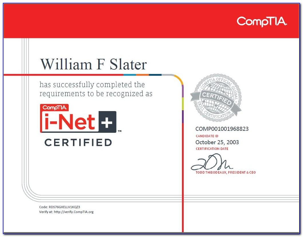 Comptia Certification Status