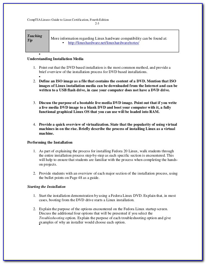 Comptia Linux+ Guide To Linux Certification Ch. 5 Review Questions