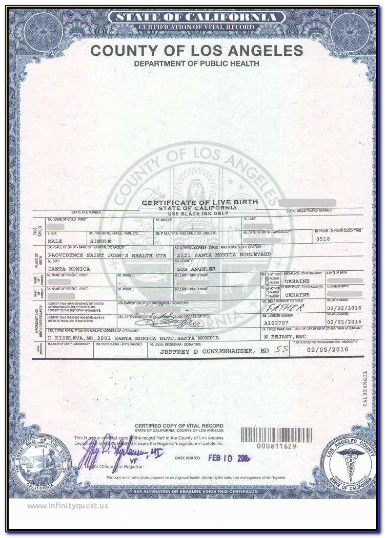 Copy Of Birth Certificate Spokane Washington