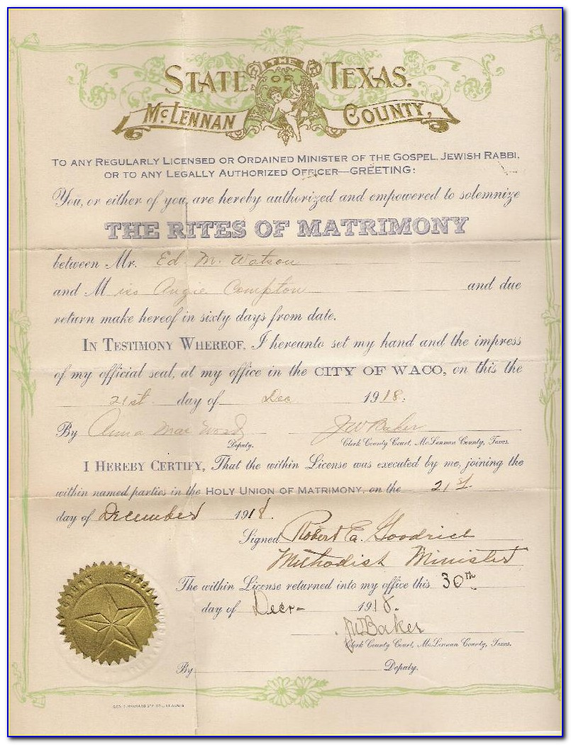 Copy Of Marriage Certificate Reno Nv