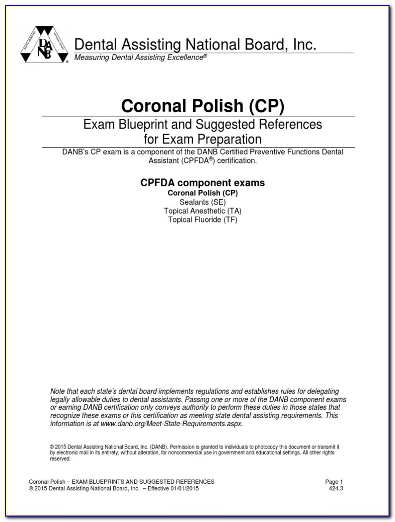Coronal Polishing Certification Arizona