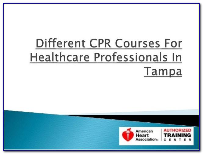 Cpr Certification Tampa Online