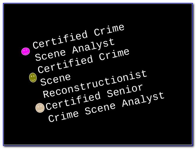 Crime Scene Investigator Certification Arizona