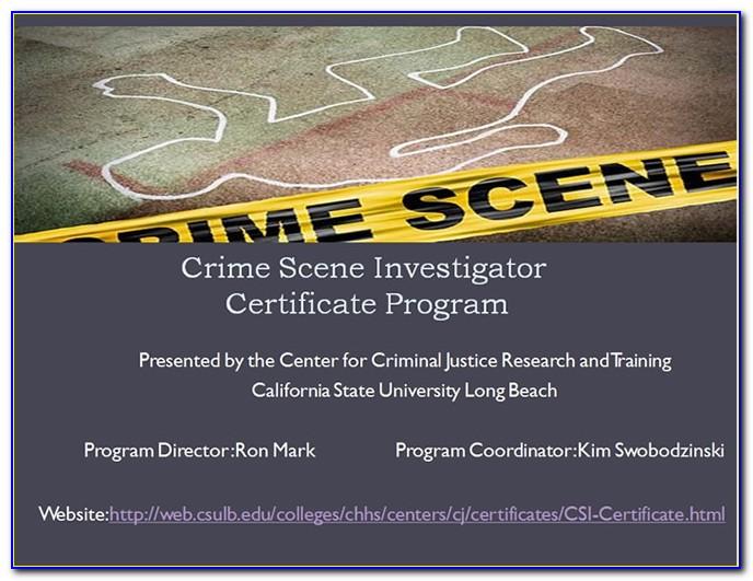 Crime Scene Investigator Certification Online