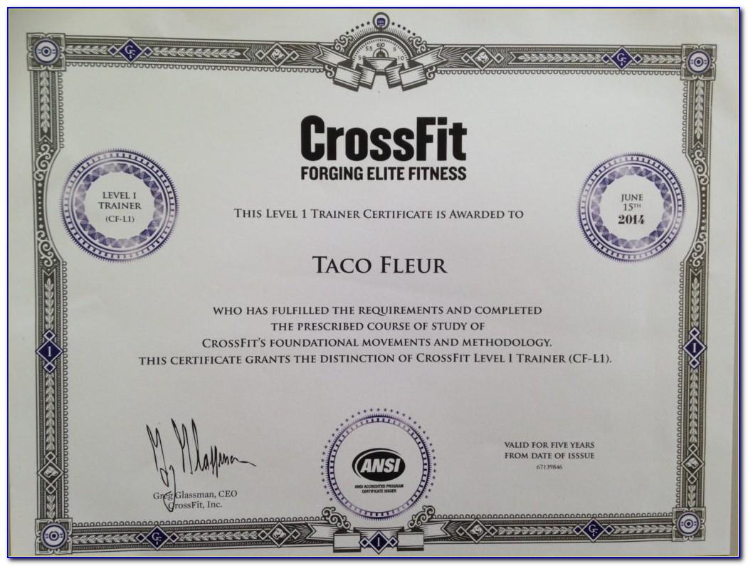 Crossfit Trainer Certification Levels