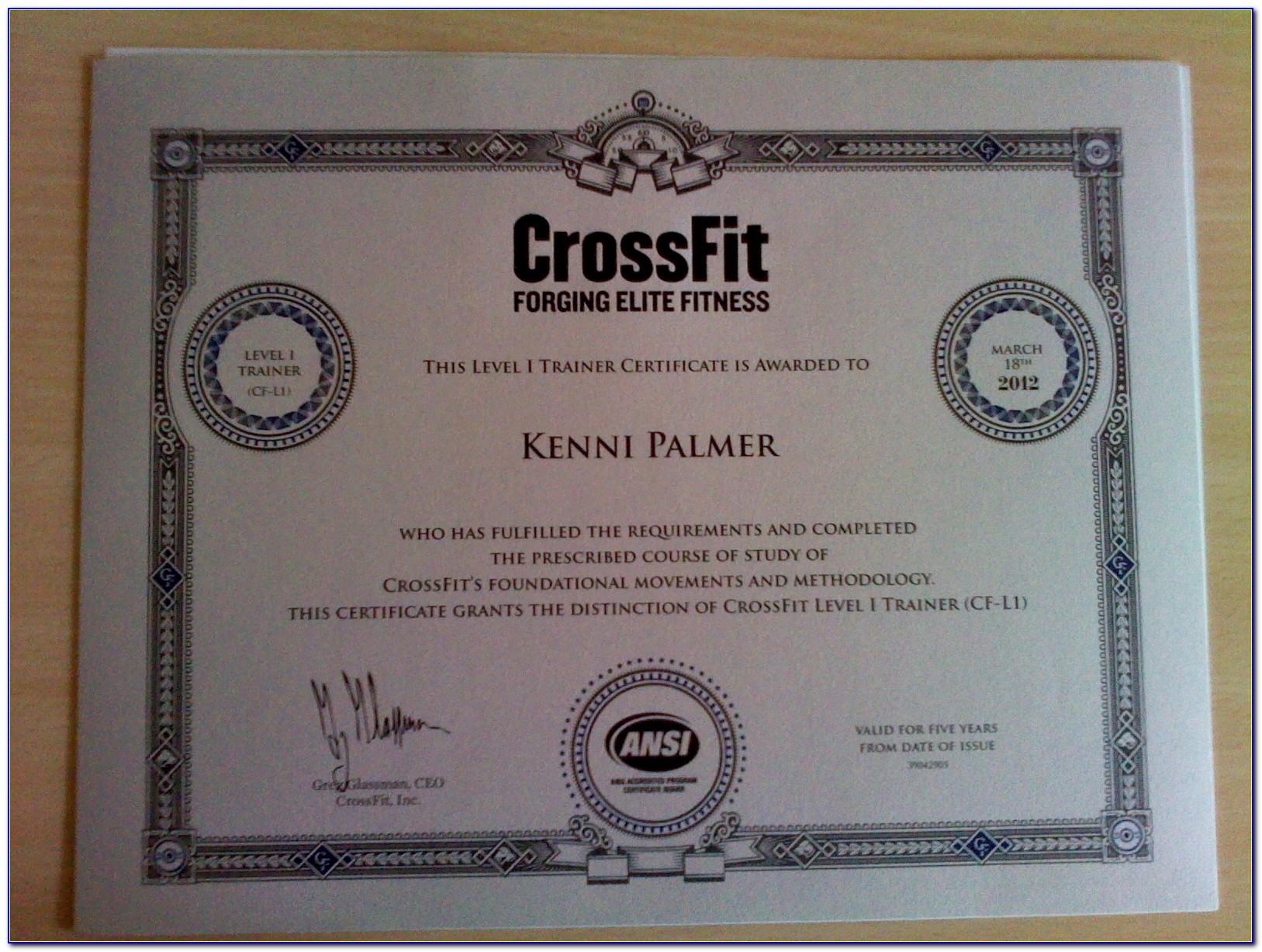 Crossfit Trainer Certification Singapore