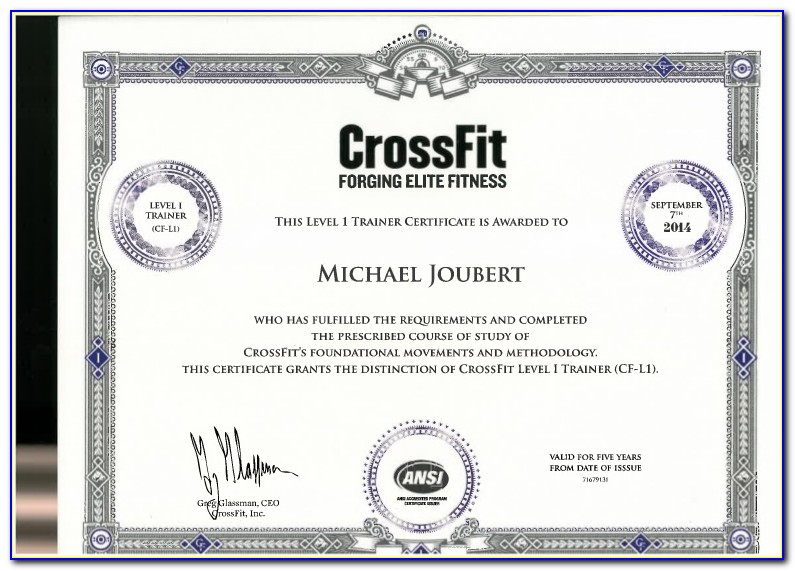 Crossfit Training Certification In India