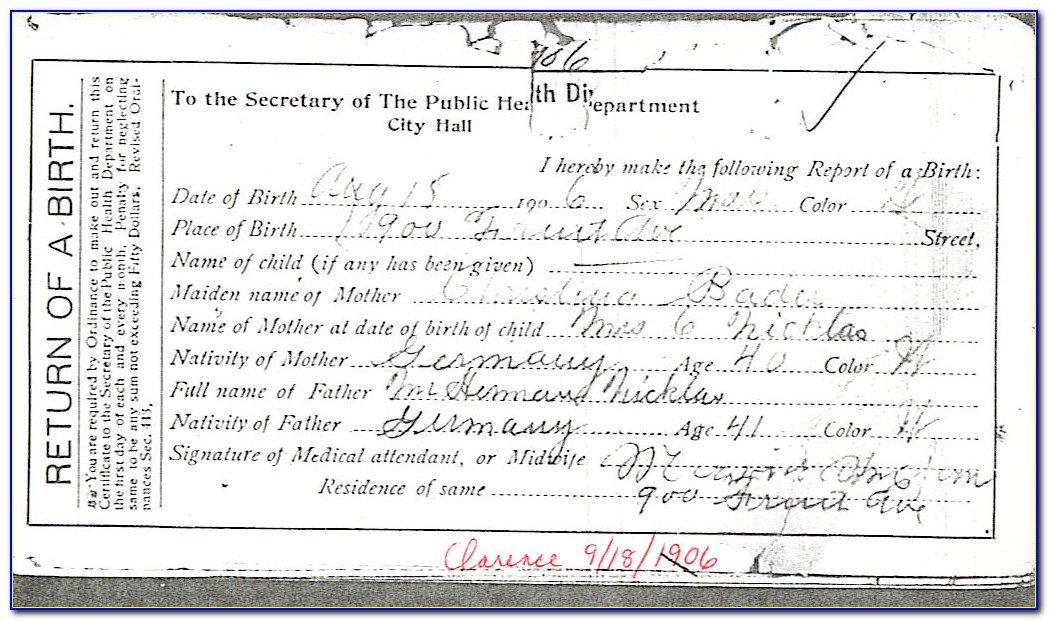 Cuyahoga County Death Certificates