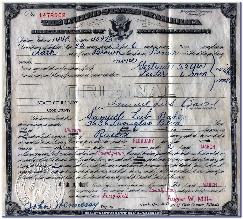 Daley Center Chicago Birth Certificate