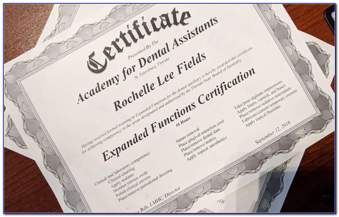Dental Assistant Certification Programs Near Me