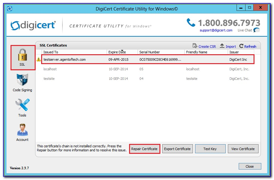 Digicert Intermediate Certificate F5