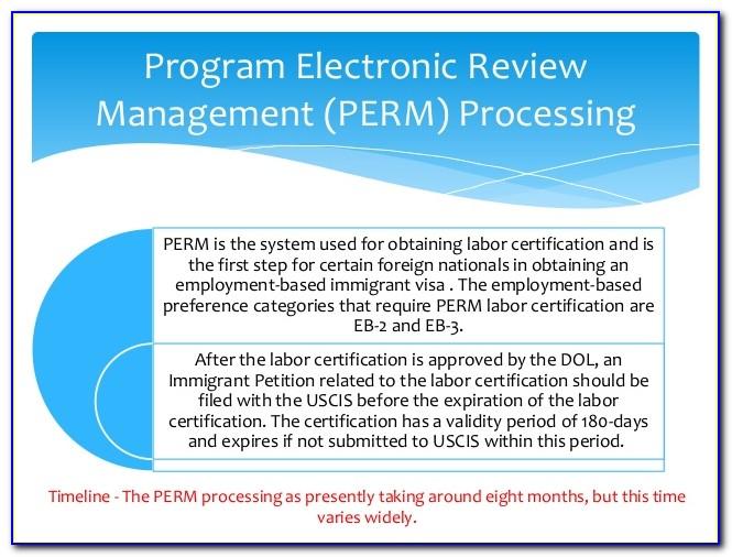 Dol Perm Labor Certification Status