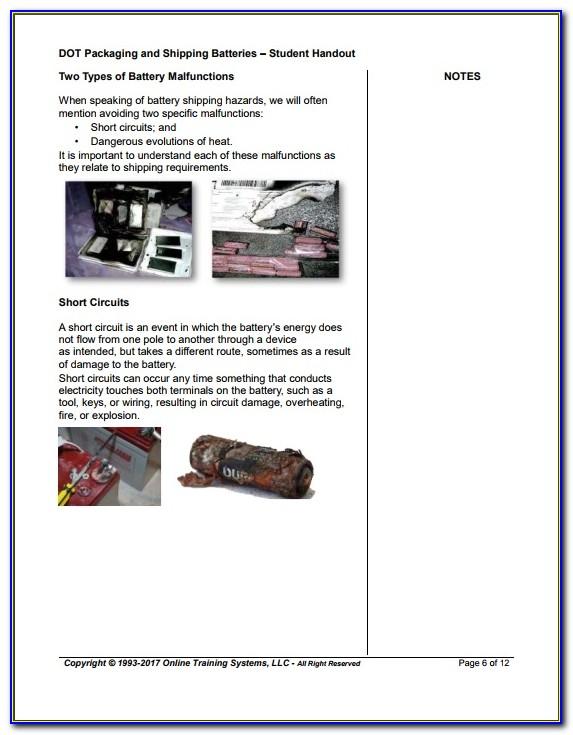 Dot Hazmat Shipping Certification Training