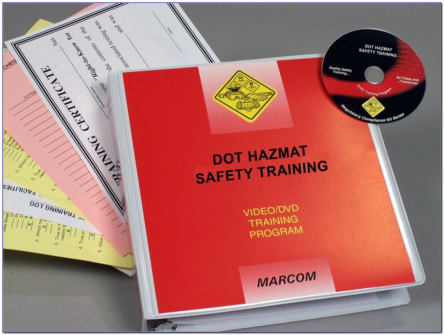 Dot Hazmat Training Video
