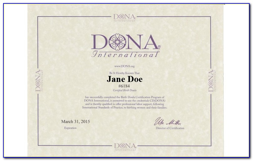Doula Certification Online
