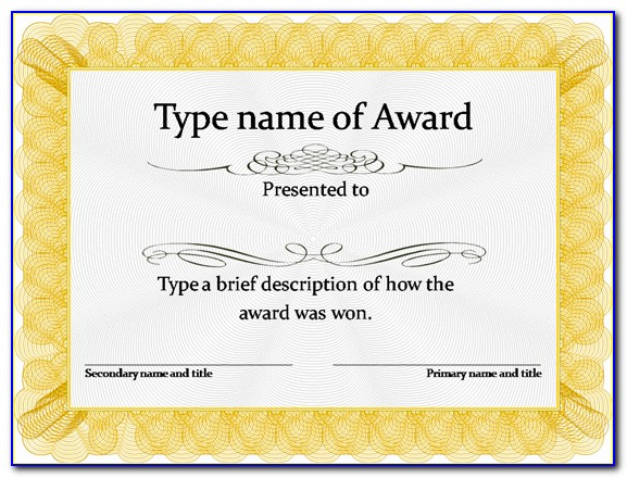 Editable Certificate Of Completion Template Free Download Word