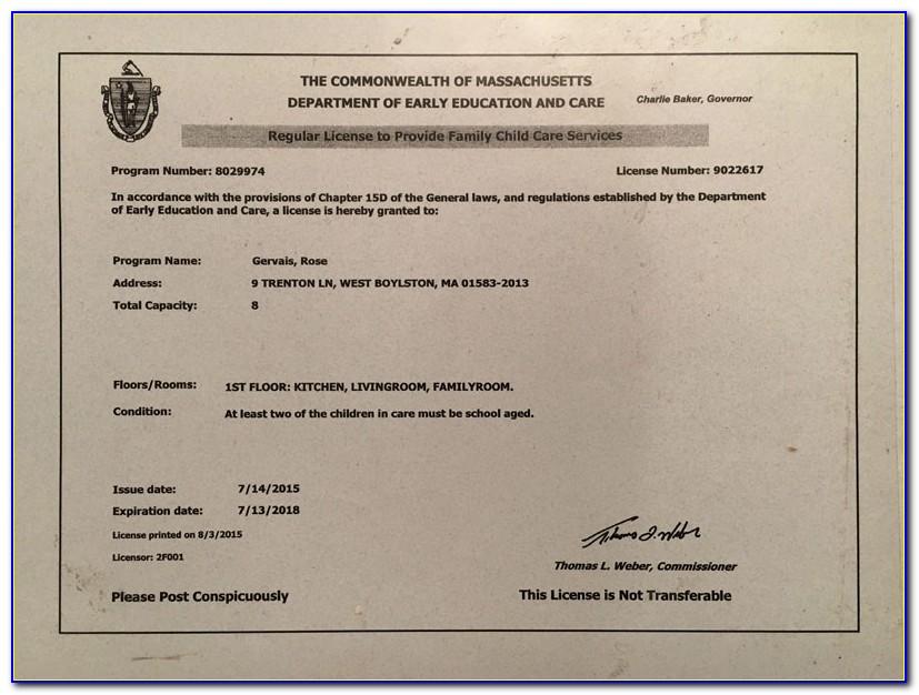 Eec License Massachusetts