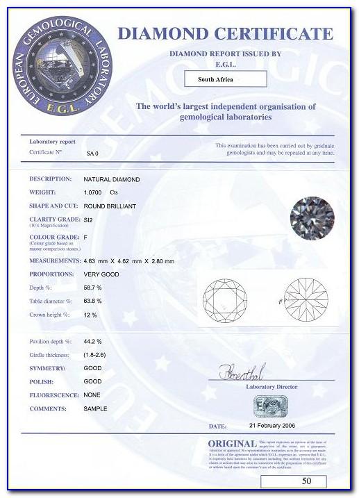 Egl Diamond Certificate Number Lookup