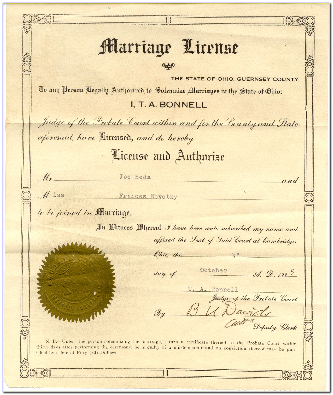 El Paso County Colorado Birth Certificate