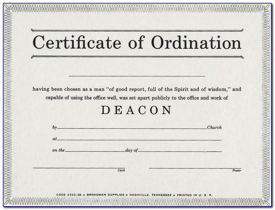 Elder Ordination Certificate Template