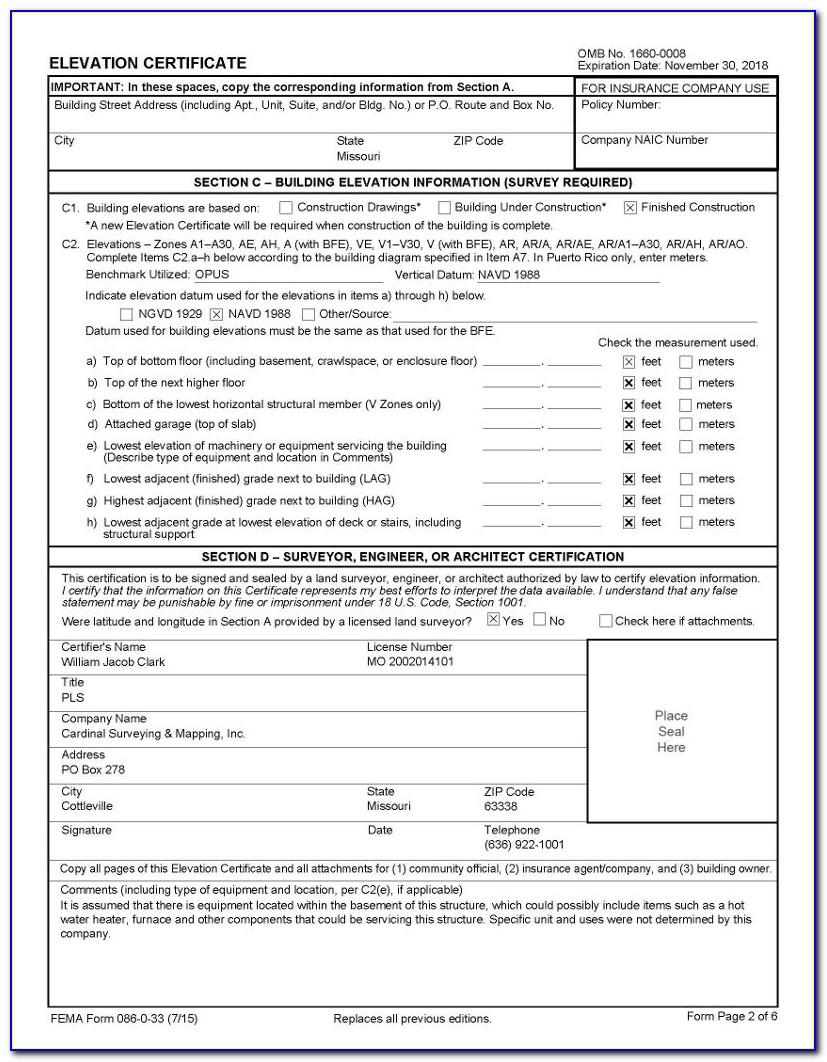 Elevation Certificate Houston Tx