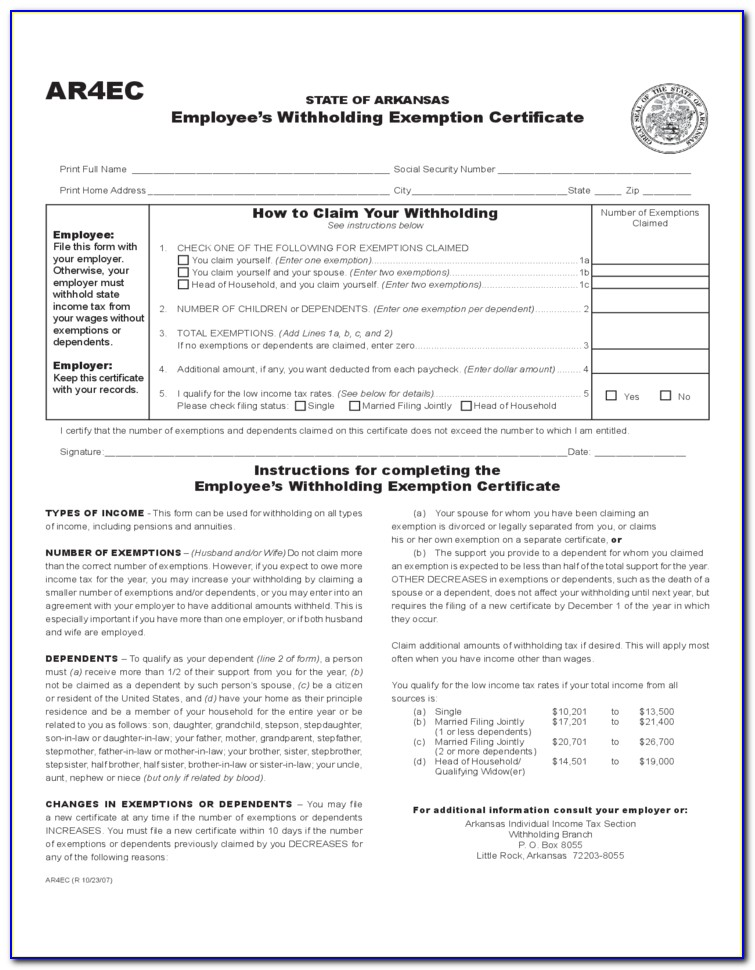 Employee's Withholding Allowance Certificate W 4