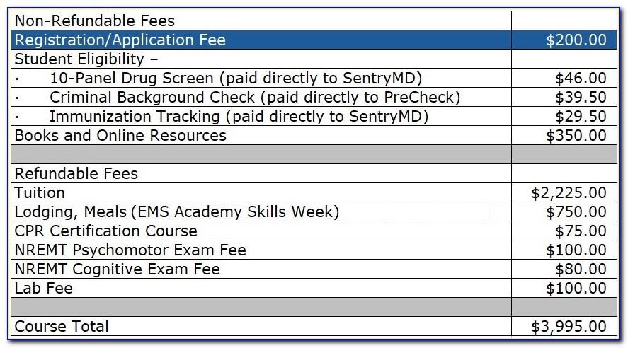 Emt Certification Va Cost