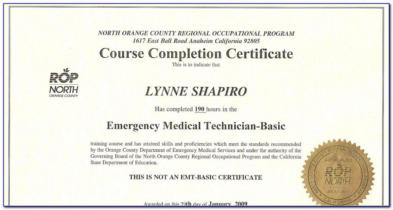 Emt Certification Validation