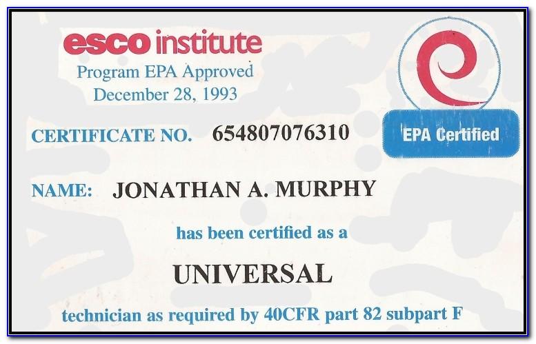Epa 608 Universal Certification Cost