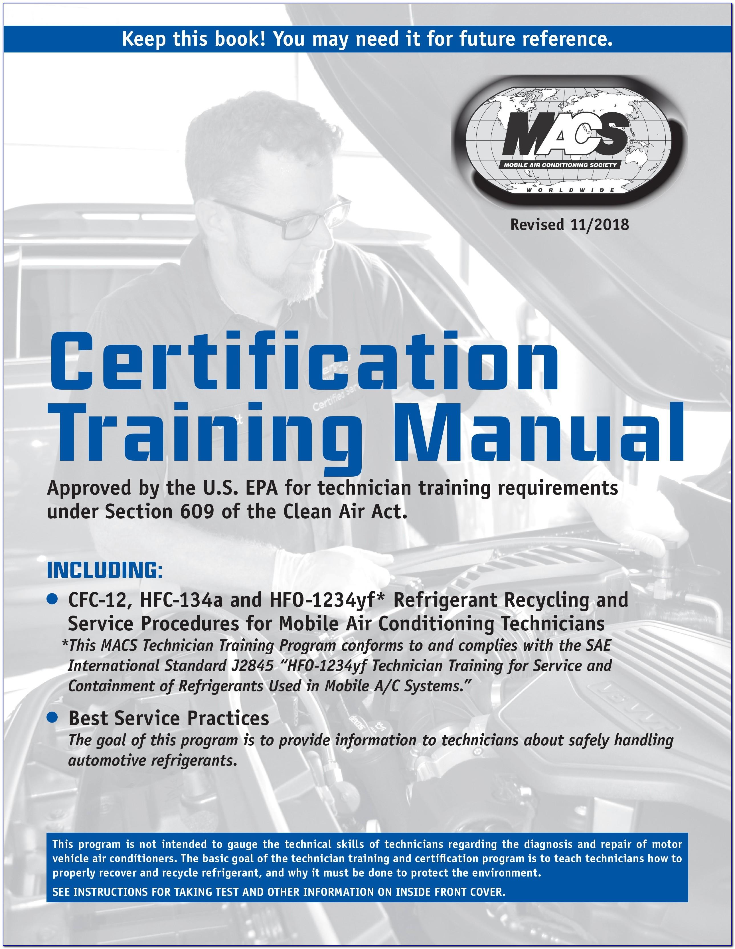 Epa 609 Certification Test Locations