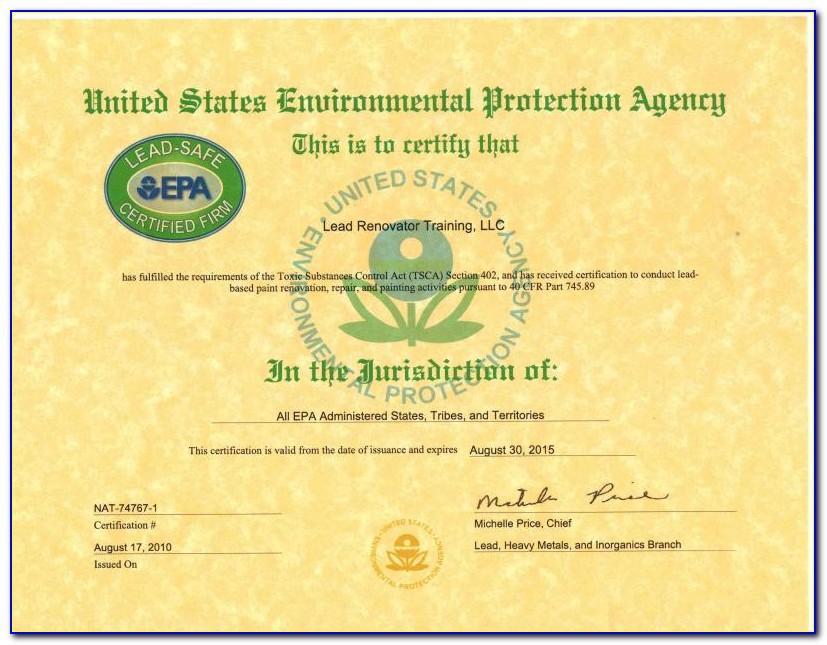 Epa Lead Certification Search